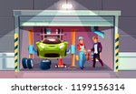 car garage tire change... | Shutterstock .eps vector #1199156314