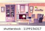 living room interior vector... | Shutterstock .eps vector #1199156317