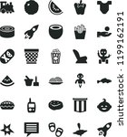 solid black flat icon set image ... | Shutterstock .eps vector #1199162191
