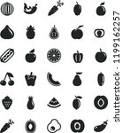 solid black flat icon set hot...   Shutterstock .eps vector #1199162257