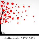 abstract tree made with hearts. ... | Shutterstock .eps vector #119916415