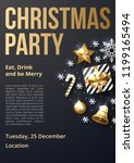 christmas party poster template ... | Shutterstock .eps vector #1199165494