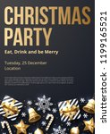 christmas party poster template ... | Shutterstock .eps vector #1199165521