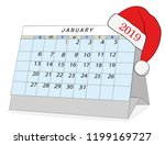 january 2019 calendar. with a...   Shutterstock .eps vector #1199169727