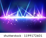 equalizer  music volume with... | Shutterstock .eps vector #1199172601