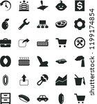 solid black flat icon set line... | Shutterstock .eps vector #1199174854