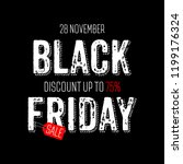 black friday sale. banner with... | Shutterstock .eps vector #1199176324