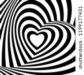geometric optical illusion... | Shutterstock .eps vector #1199177431