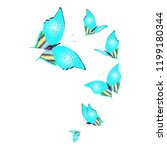 beautiful butterflies  blue... | Shutterstock . vector #1199180344