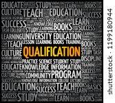 qualification word cloud ... | Shutterstock .eps vector #1199180944