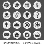 user interface vector icons for ... | Shutterstock .eps vector #1199184631