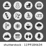 winter web icons stylized...   Shutterstock .eps vector #1199184634