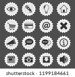 user interface web icons... | Shutterstock .eps vector #1199184661