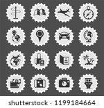 travel web icons stylized...   Shutterstock .eps vector #1199184664