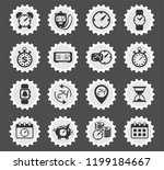 time vector icons for web and...   Shutterstock .eps vector #1199184667
