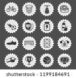sport web icons stylized... | Shutterstock .eps vector #1199184691