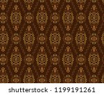 vector seamless pattern in... | Shutterstock .eps vector #1199191261