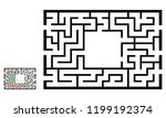 illustration with labyrinth ... | Shutterstock .eps vector #1199192374