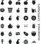 solid black flat icon set... | Shutterstock .eps vector #1199196691