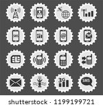 mobile connection web icons... | Shutterstock .eps vector #1199199721
