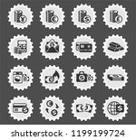 money symbols web icons... | Shutterstock .eps vector #1199199724