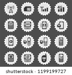 mobile connection web icons... | Shutterstock .eps vector #1199199727