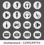 musical web icons stylized... | Shutterstock .eps vector #1199199751