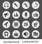 musical equipment web icons... | Shutterstock .eps vector #1199199757