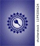 key icon inside jean or denim...   Shutterstock .eps vector #1199200624