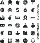 solid black flat icon set... | Shutterstock .eps vector #1199202907