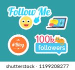 follow me smile  emoticon... | Shutterstock .eps vector #1199208277