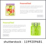preserved food banners ... | Shutterstock .eps vector #1199209681