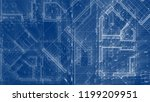 architecture design  blueprint... | Shutterstock . vector #1199209951