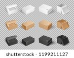 parcel with adhesive tape 3d... | Shutterstock .eps vector #1199211127