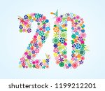 vector colorful floral 20... | Shutterstock .eps vector #1199212201