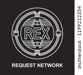 request network coin... | Shutterstock .eps vector #1199212354