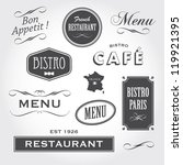 vintage retro french restaurant ... | Shutterstock . vector #119921395