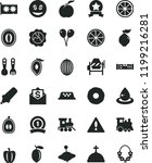 solid black flat icon set... | Shutterstock .eps vector #1199216281