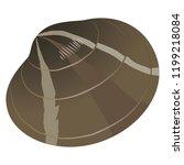 short necked clam or japanese...   Shutterstock .eps vector #1199218084