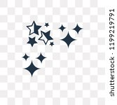 sprinkle stars vector icon... | Shutterstock .eps vector #1199219791