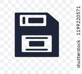 floppy disk transparent icon.... | Shutterstock .eps vector #1199220571