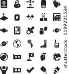 solid black flat icon set check ... | Shutterstock .eps vector #1199221534