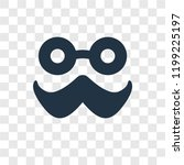 moustache vector icon isolated...