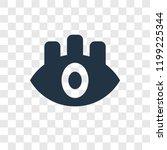 eye vector icon isolated on...