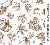 decorative seamless pattern... | Shutterstock .eps vector #1199225581