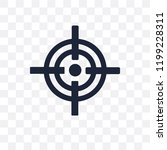 aim transparent icon. aim... | Shutterstock .eps vector #1199228311