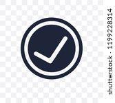 accept transparent icon. accept ... | Shutterstock .eps vector #1199228314