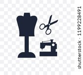 sewing craft transparent icon.... | Shutterstock .eps vector #1199228491