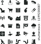 solid black flat icon set... | Shutterstock .eps vector #1199230087
