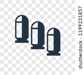 bullet vector icon isolated on...   Shutterstock .eps vector #1199231857